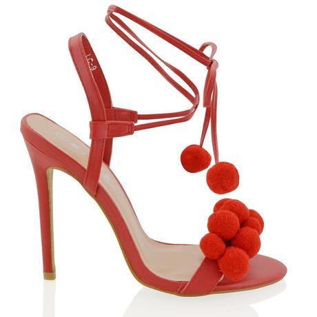 Červené společenské, svatební sandálky, 36-41, 36