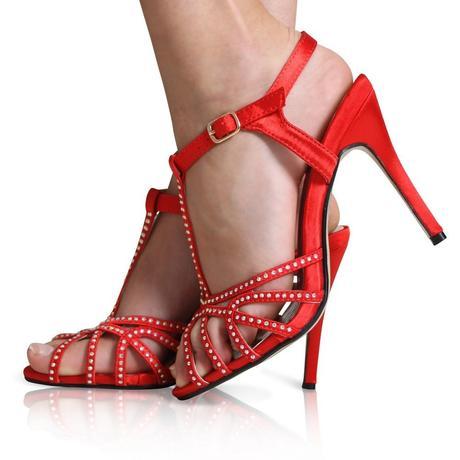 Červené společenské, svatební sandálky, 36-41, 37