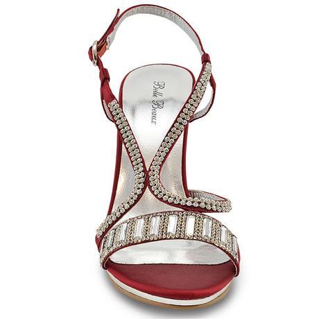 Červené společenské, svatební sandálky, 36-41, 39