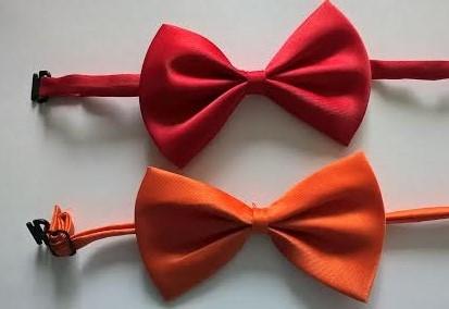 Červený, oranžový dětský motýlek - skladem,