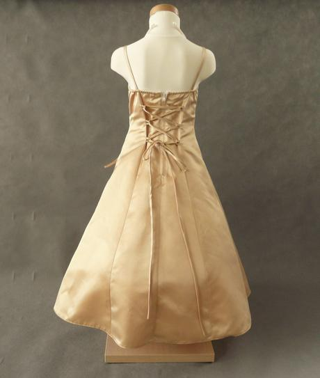 Champagne, krémové šaty pro družičku - 3-7 let, 116