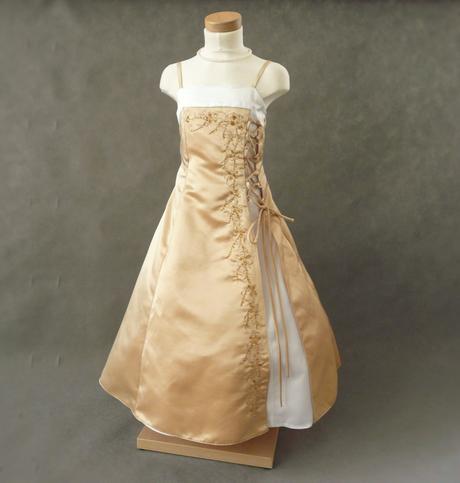 Champagne, krémové šaty pro družičku - 3-7 let, 122