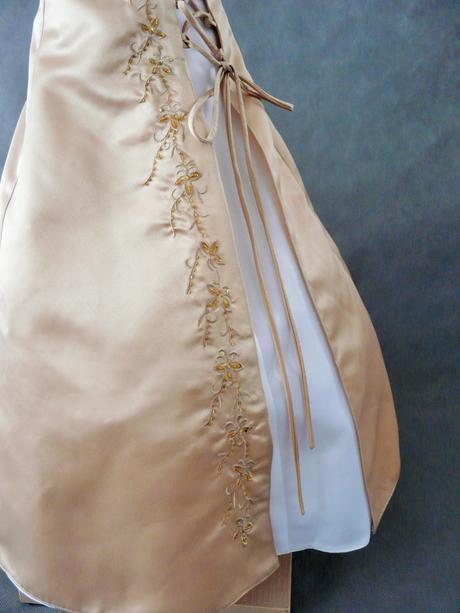 Champagne, krémové šaty pro družičku - 3-7 let, 128
