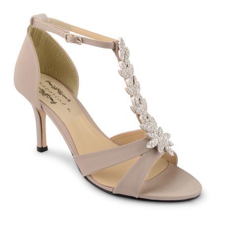 Champagne svatební, společenské sandálky, 36-41, 40