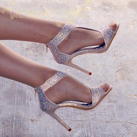 Champagne svatební, společenské sandálky, 40