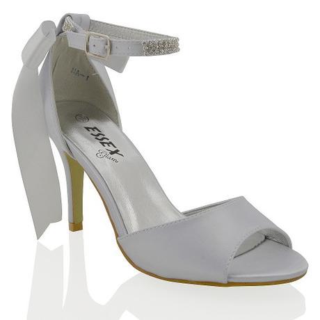 CLARA - bílé svatební sandálky s mašlí, 36-41, 36