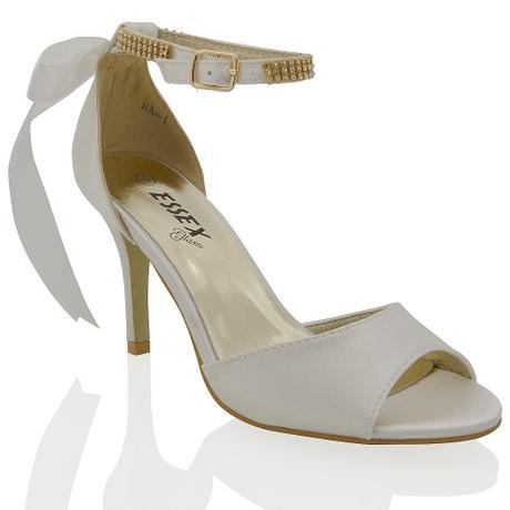 CLARA - ivory svatební sandálky s mašlí, 36-41, 36