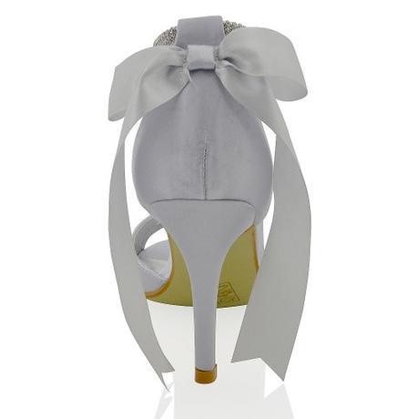 CLARA - ivory svatební sandálky s mašlí, 36-41, 41
