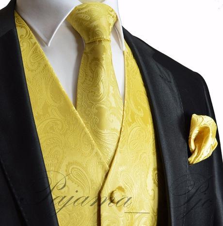 CORAL - pánský set vesta, kravata, kapesníček, 38
