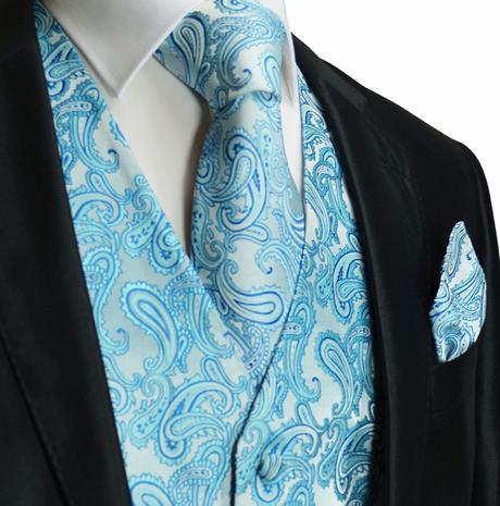 CORAL - pánský set vesta, kravata, kapesníček, 56