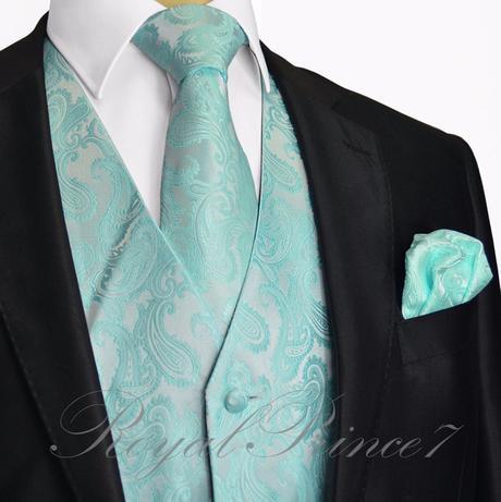 CORAL - pánský set vesta, kravata, kapesníček, 62