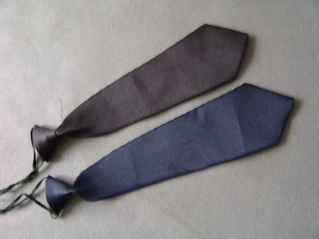 Dětská kravata - černá, tmavě modrá a světle modrá,