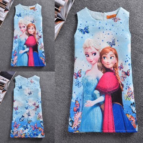 Dětské šaty nejenom na svatbu - Frozen, ledové krá, 110