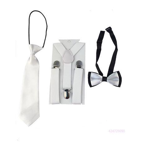Dětský set - kšandy, kravata, motýlek, 110