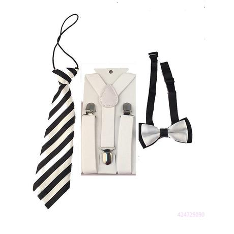 Dětský set - kšandy, kravata, motýlek, 122