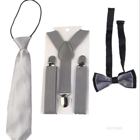 Dětský set - kšandy, kravata, motýlek, 128