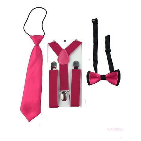 Dětský set - kšandy, kravata, motýlek, 92