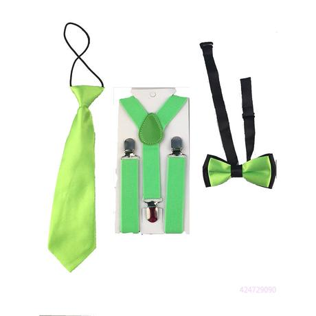 Dětský set - kšandy, kravata, motýlek, 98