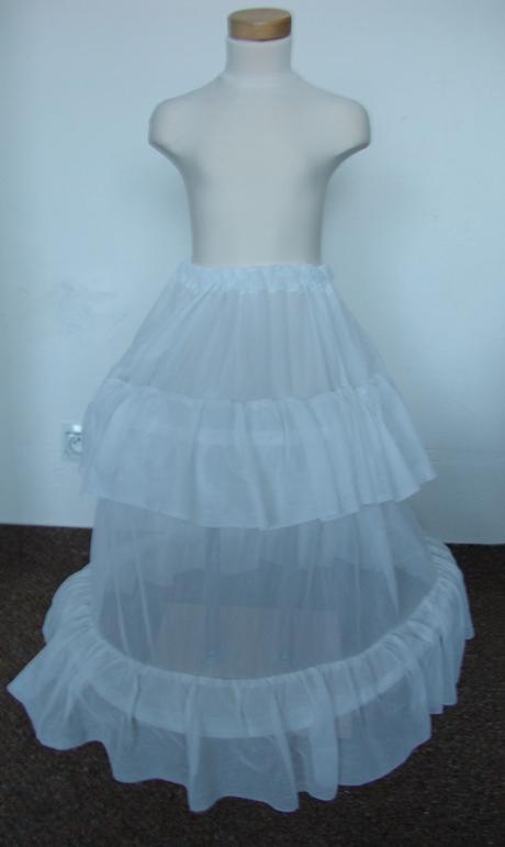 Dlouhá svatební spodnička, dětská, 128