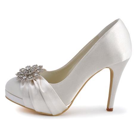 Elegantní bílé svatební lodičky, 22,5-26cm, 36