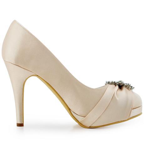 Elegantní bílé svatební lodičky, 22,5-26cm, 38