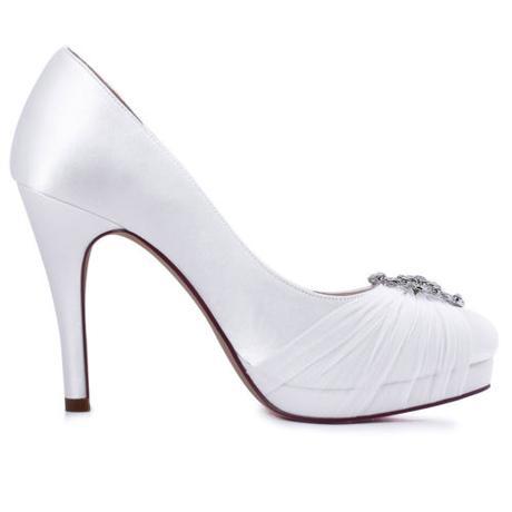 Elegantní bílé svatební lodičky, 23-26cm, 37