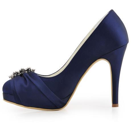 Elegantní tmavě modré lodičky, 22,5-26cm, 37