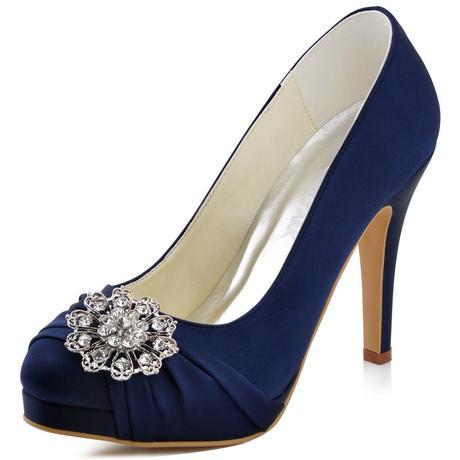 Elegantní tmavě modré lodičky, 22,5-26cm, 38