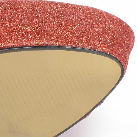 Extravagantní červené lodičky, vysoký podpatek, 36