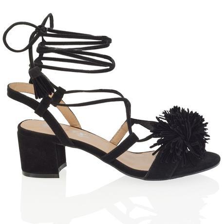 FAYE, černé společenské sandálky, 36-41, 38