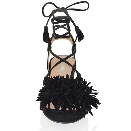 FAYE, černé společenské sandálky, 36-41, 40