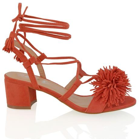 FAYE, oranžové společenské sandálky, 36-41, 40