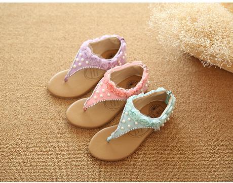 Fialové dětské svatební sandálky, 26-30, 26