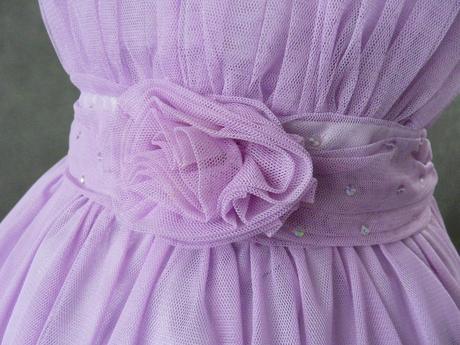 Fialové, lilla šaty pro družičku - 3-5 let, 104