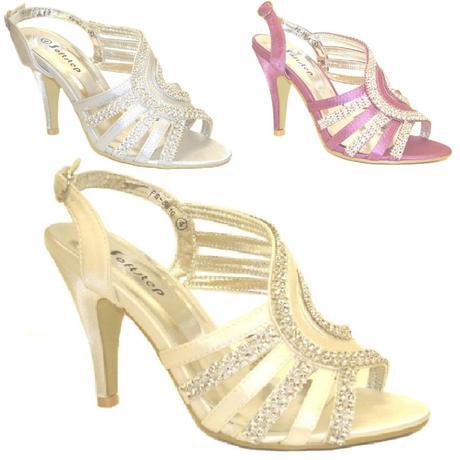 Fialové společenské, plesové sandálky, 36-41, 37