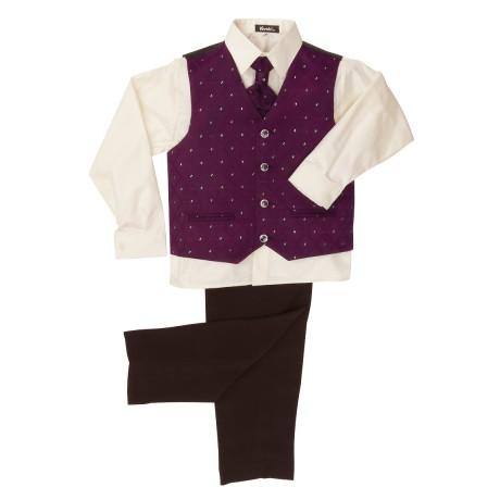 Fialový oblek, svatba, křtiny, půjčovné, 0-8 let, 98