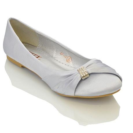 GABRIELA - svatební balerínky, satén, 36-41, 40