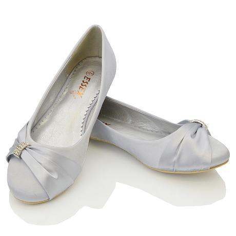 GABRIELA - svatební balerínky, satén, 36-41, 41