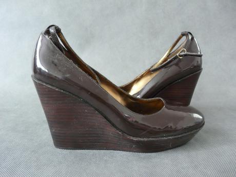 Hnědé boty, klínek, 39