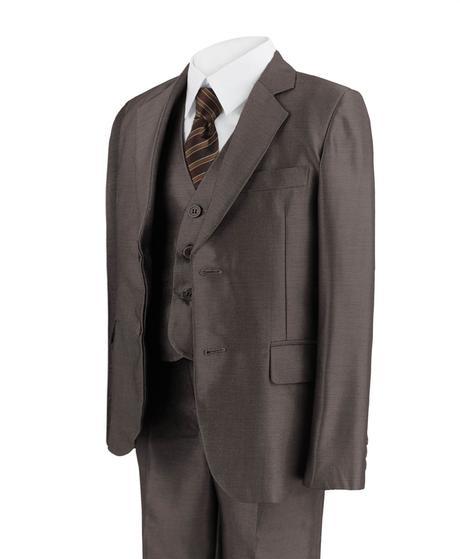 Hnědý společenský oblek - 1-14 let - prodej, 122