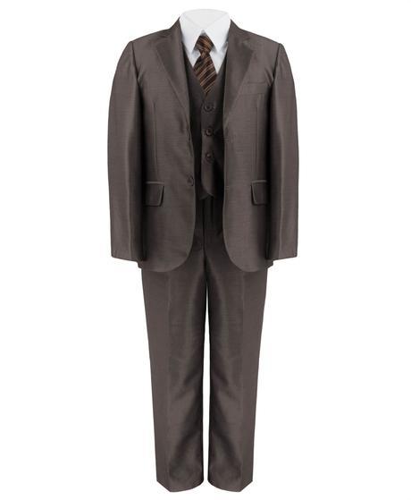Hnědý společenský oblek - 1-14 let - prodej, 128