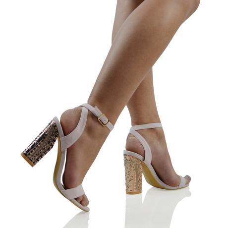 IRIS, společenské sandálky, zlatý, stříbrný podpat, 40