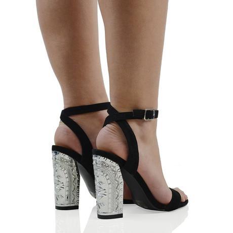 IRIS, společenské sandálky, zlatý, stříbrný podpat, 39