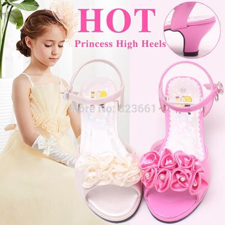 Ivory (bílé) společenské sandálky pro družičky, 30