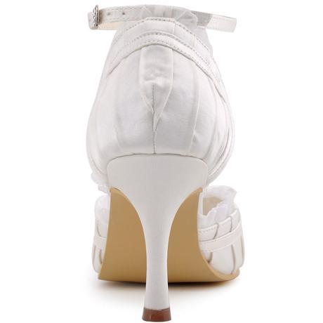 Ivory krajkové svatební lodičky, 34-42, 34