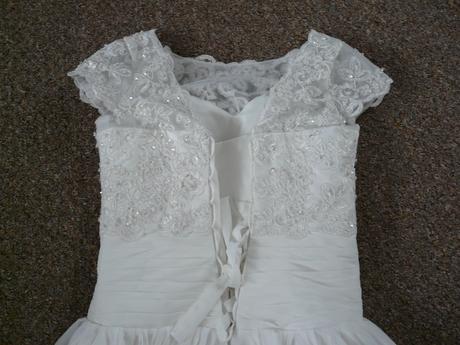Ivory krátké svatební šaty, různé velikosti, reáln, 32