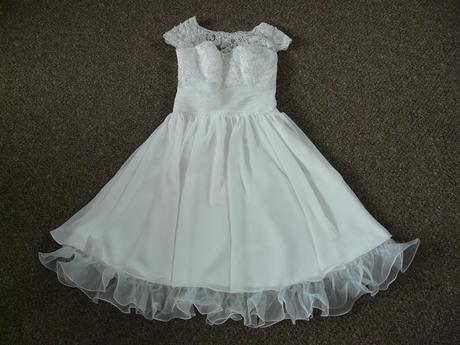 Ivory krátké svatební šaty, různé velikosti, reáln, 40