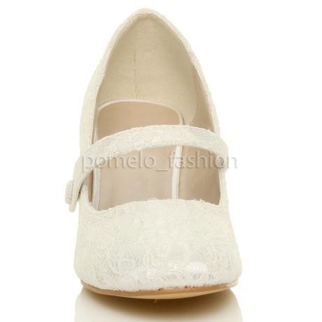 Ivory, krémové krajkové svatební lodičky, 36