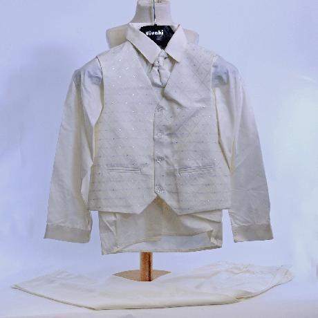 Ivory oblek svatební, na křtiny, půjčovné vel 0-8, 68