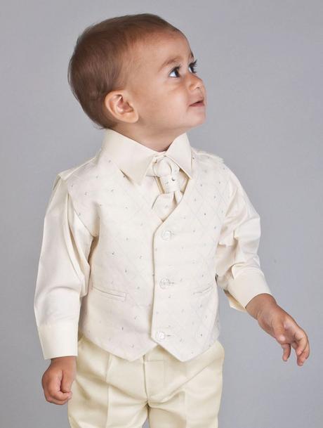 Ivory oblek svatební, na křtiny, půjčovné vel 0-8, 98